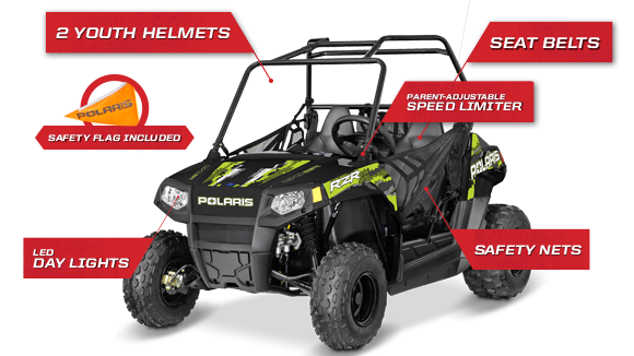 RZR 170 EFI - STANDARD SAFETY FEATURES